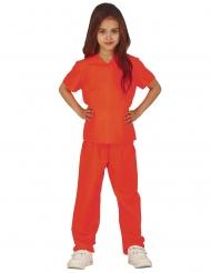 Disfarce prisioneira laranja menina