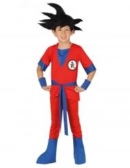 Disfarce de ninja anime vermelho menino