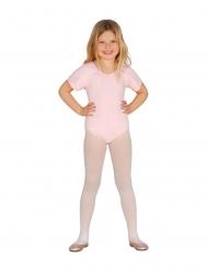 Body mangas curtas rosa pálido criança