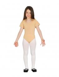 Body mangas curtas bege criança