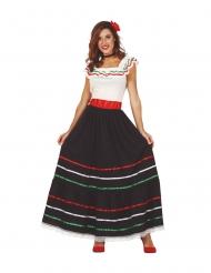 Disfarce mexicana comprido mulher