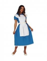 Disfarce princesa maravilhosa azul mulher