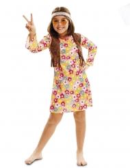 Disfarce hippie florido menina