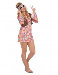 Disfarce hippie florido mulher