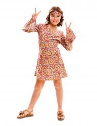 Disfarce hippie psicodélico menina