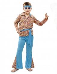 Disfarce hippie psicodélico menino