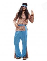 Disfarce hippie psicodélico homem