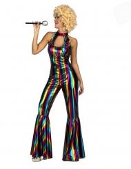 Disfarce macacão disco rainbow mulher