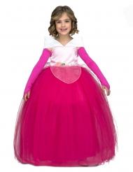 Disfarce de princesa de baile rosa menina