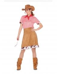 Disfarce cowgirl do Oeste mulher