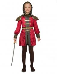 Disfarce de cavaleiro medieval para menina