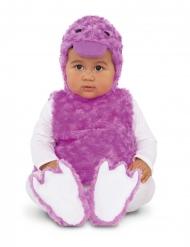 Disfarce patinho lilás pelúcia bebé