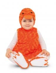 Disfarce patinho laranja pelúcia bebé