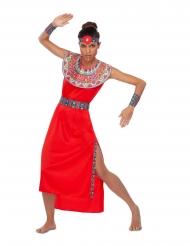 Disfarce Massai vermelho mulher