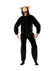 Disfarce macaco preto adulto