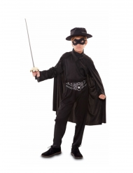 Disfarce bandido mascarado menino