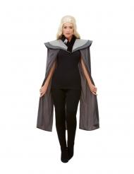 Capa medieval cinzenta mulher