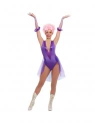 Disfarce trapezista de circo roxo mulher