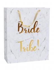 Sac festa mármore Bride Tribe despedida 32 x 25 cm