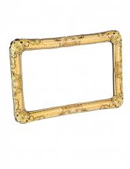 Quadro de fotografia insuflável dourado 80 x 60 cm