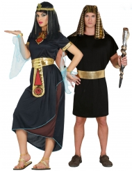 Disfarce casal Cleópatra e Faraó adulto