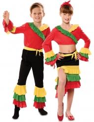 Disfarce de casal dançarino rumba criança