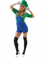 Disfarce canalizadora calções verde mulher