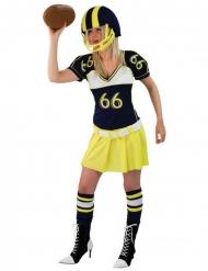 Disfarce jogadora futebol americano amarelo mulher