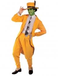 Disfarce comediano mascarado verde homem