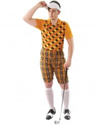 Disfarce golfista laranja homem