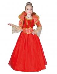 Disfarce rainha vermelha menina