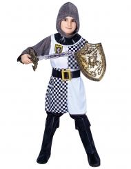 Disfarce soldado cruzadas menino