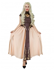 Disfarce princesa medieval castanho mulher