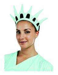 Coroa estátua da liberdade em tecido adulto