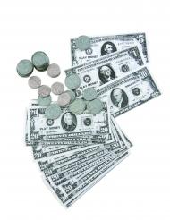 Kit dollars notas e moedas