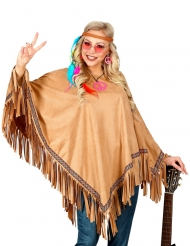 Poncho luxo índia adulto