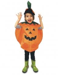 Poncho de abóbora de Halloween para criança