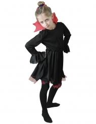 Disfarce vampira preto com gola vermelho menina