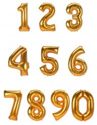 Balão alumínio dígito dourado 134 cm