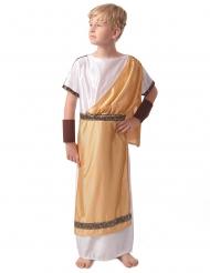 Disfarce dourado romano menino