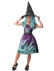 Disfarce bruxa azul menina