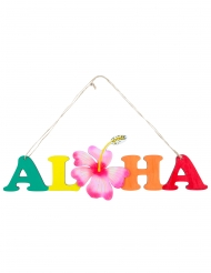 Grinalda de madeira Aloha 38 x 39 cm