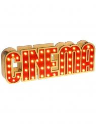 Decoração luminosa de madeira Cinema 30 x 4 x 10 cm