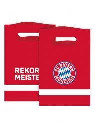 8 Sacos de festa FC Bayern Munique™ 15 x 23 cm