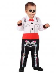 Disfarce esqueleto Dia de los muertos bebé