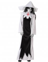 Disfarce freira zombie terrível menina