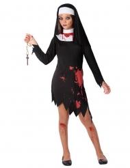Disfarce freira sangrenta menina