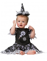 Disfarce bruxa candy bebé