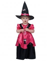 Disfarce bruxa cor-de-rosa bebé