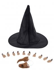 Kit de acessórios de bruxa para mulher